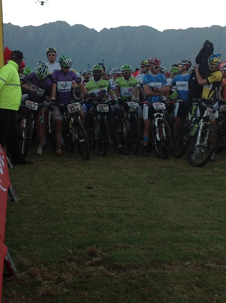 Prince and Phillimon lined up with all the overall leaders for the start of Stage 3