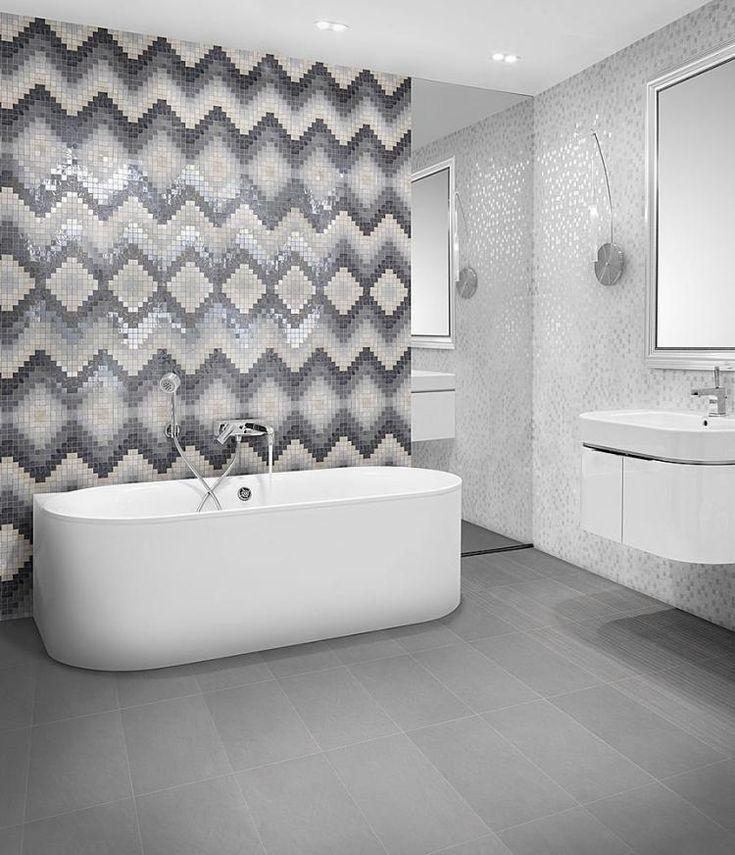 67 best Mosaïque salle de bains images on Pinterest Bathroom - mosaique rose salle de bain