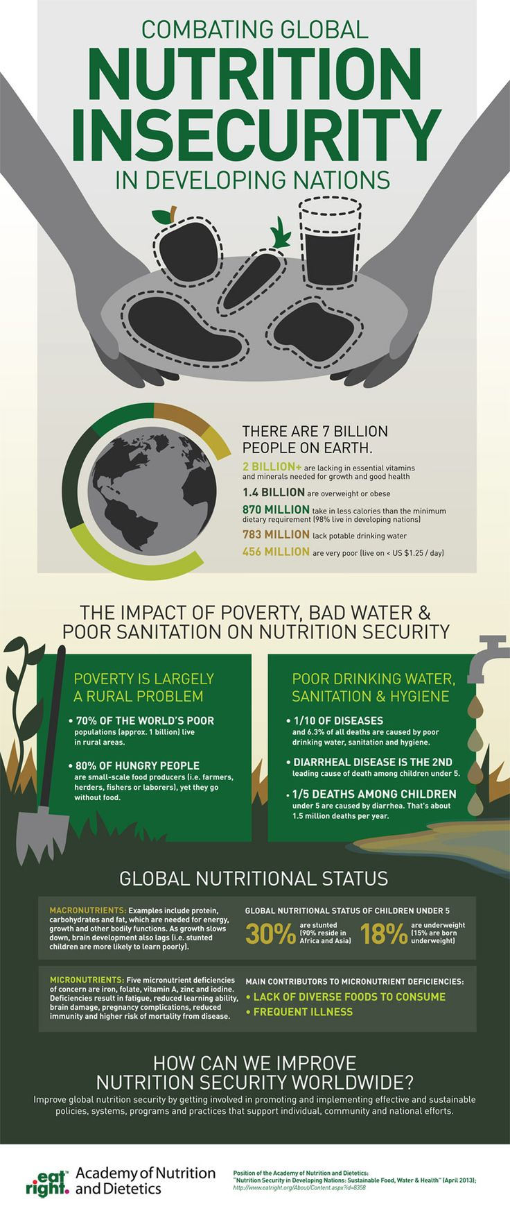 Combating Global Nutrition Insecurity in Developing Nations | www.eatright.org #infographic