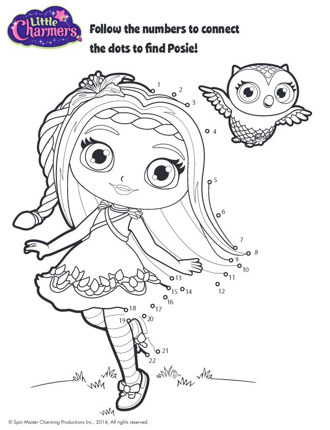 little charmers coloring pages printable
