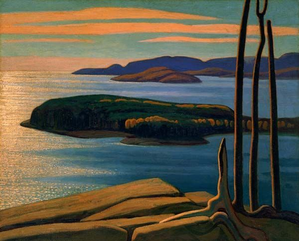 Afternoon Sun, Lake Superior by Lawren Harris, Group of Seven