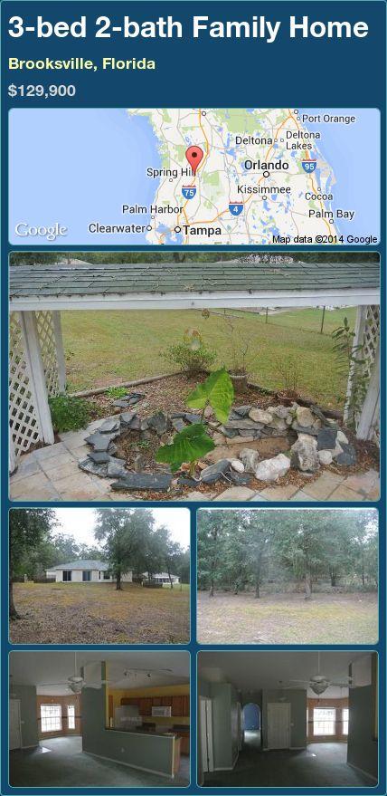 3-bed 2-bath Family Home in Brooksville, Florida ►$129,900 #PropertyForSale #RealEstate #Florida http://florida-magic.com/properties/82092-family-home-for-sale-in-brooksville-florida-with-3-bedroom-2-bathroom