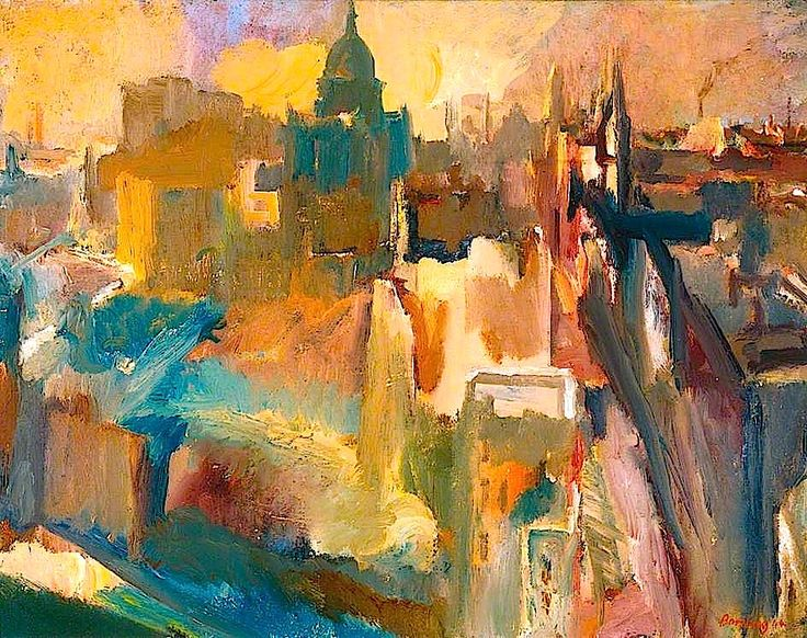 David Bomberg | Evening in the City of London. Although he is now considered one of the most important and influential British painters of the twentieth century, at the time of his death in 1957 David Bomberg was a forgotten figure. Despite achieving extraordinary success in his early career as one of the brightest stars of the British avant-garde.