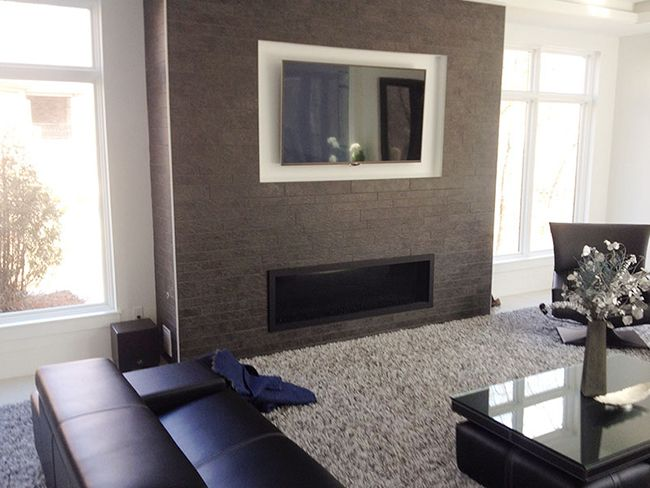 This Sleek Living Room Fireplace Was Finished By Dayton Fireplace