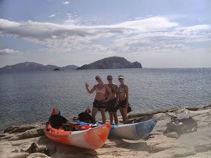 Sea kayaking turtle island Zakynthos.
