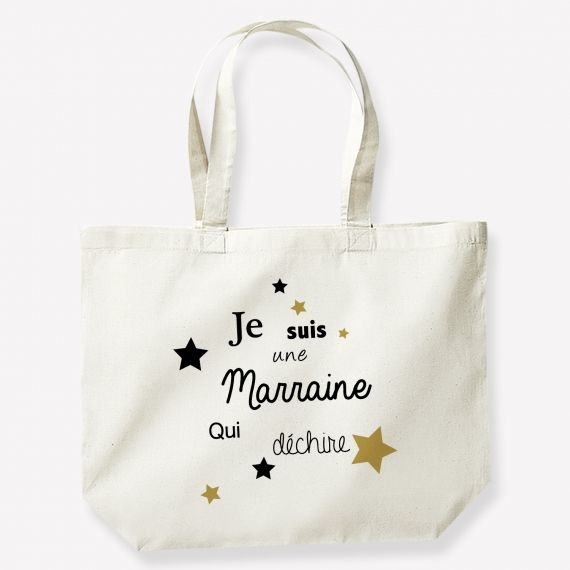 Cadeau Marraine original | Sac shopping, Cadeau marraine, Sac