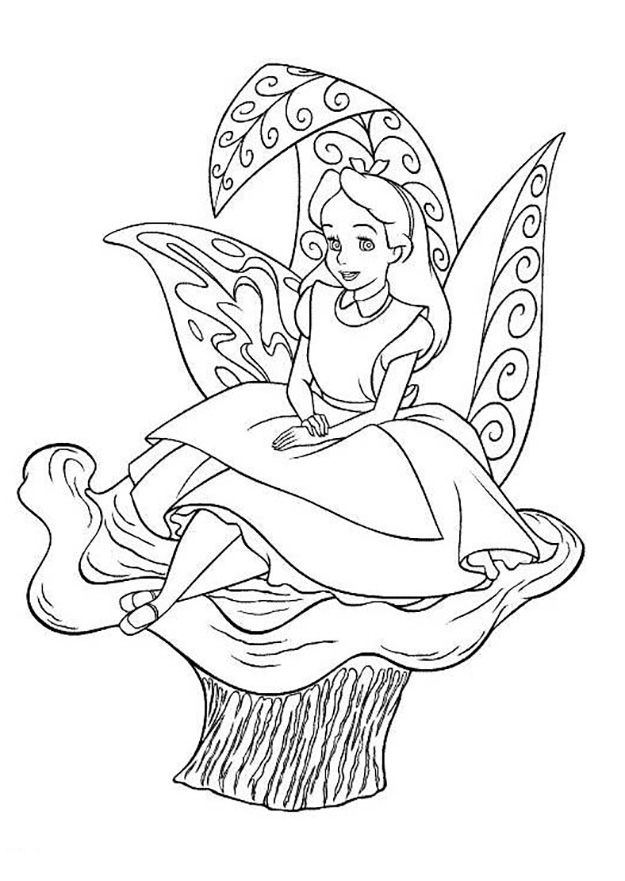 alice in wonderland coloring pages alice in wonderland coloring pages kidsdrawing free coloring pages online - Alice Wonderland Coloring Pages