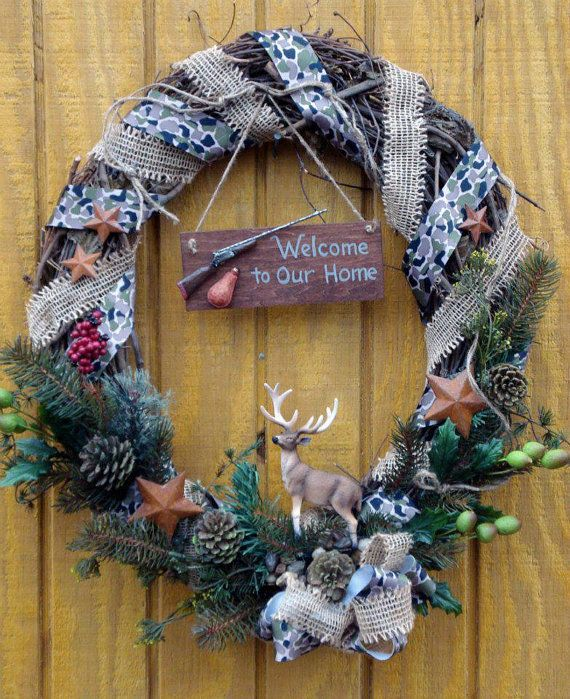 Calling+all+Deer+Hunters++Rustic+Fall+Grapevine/+by+WildThangs2013,+$50.00