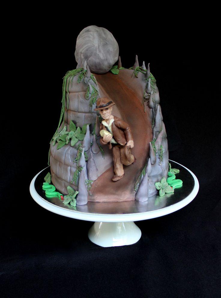 indianjones birthday party invitations printable%0A Indiana Jones Cake  Amelias Kitchen