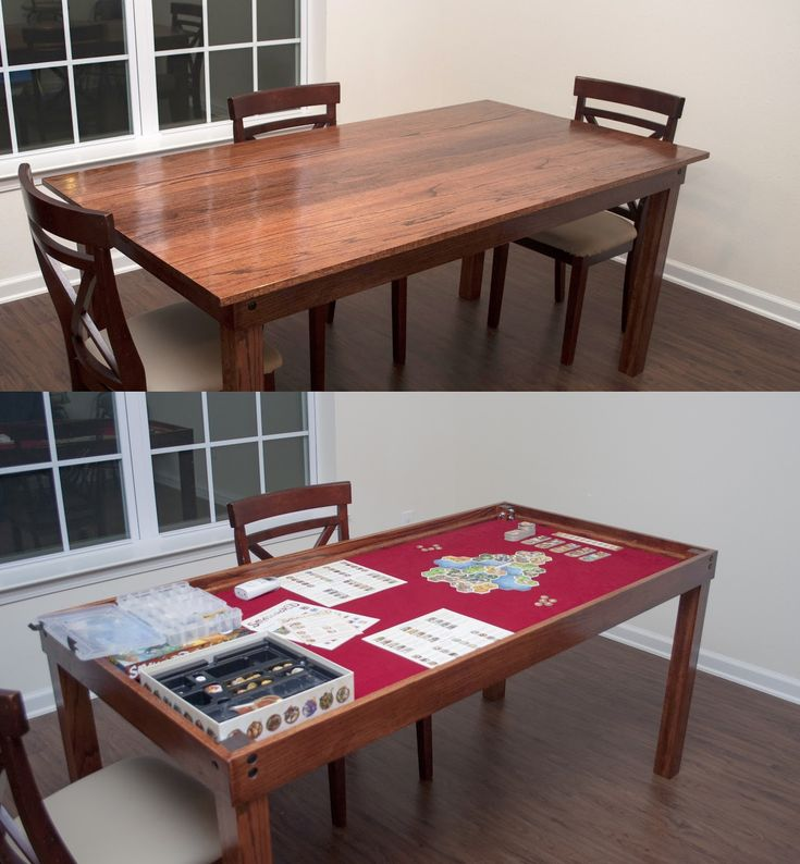 DIY Gaming & Dining Room Table - Ok, so I didn't really do anything for this one, but hubby built a gorgeous table for our anniversary using this tutorial as a guideline!