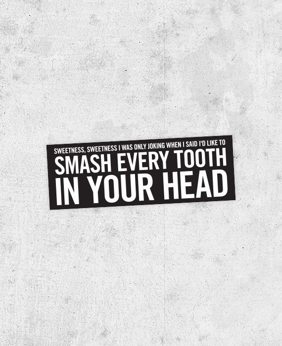 "The Smiths lyric Sticker!  ""Bigmouth strikes again"" Morrissey, strangeways, douglas coupland,Johnny Marr stone roses"