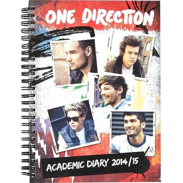 River Island One Direction A5 academic diary 2014/15 (6.54 SGD) ❤ liked on Polyvore featuring home, home decor, one direction, notebooks, accessories, sale and river island