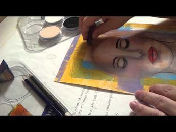 Shading Hair Pan Pastels Over Gelli Print - 1 of 2. In this two-part video, I share how I shade hair with Pan Pastels over a print I made with my Gelli Arts Gel Printing Plate. - Felicia Borges