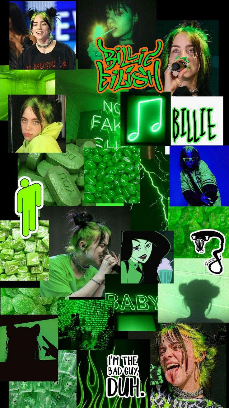 Wallpaper Billie Billie Billie Eilish Green Aesthetic Tumblr
