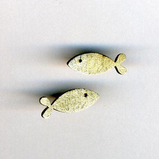 Orecchini Pesce - Stagni - argento e oro