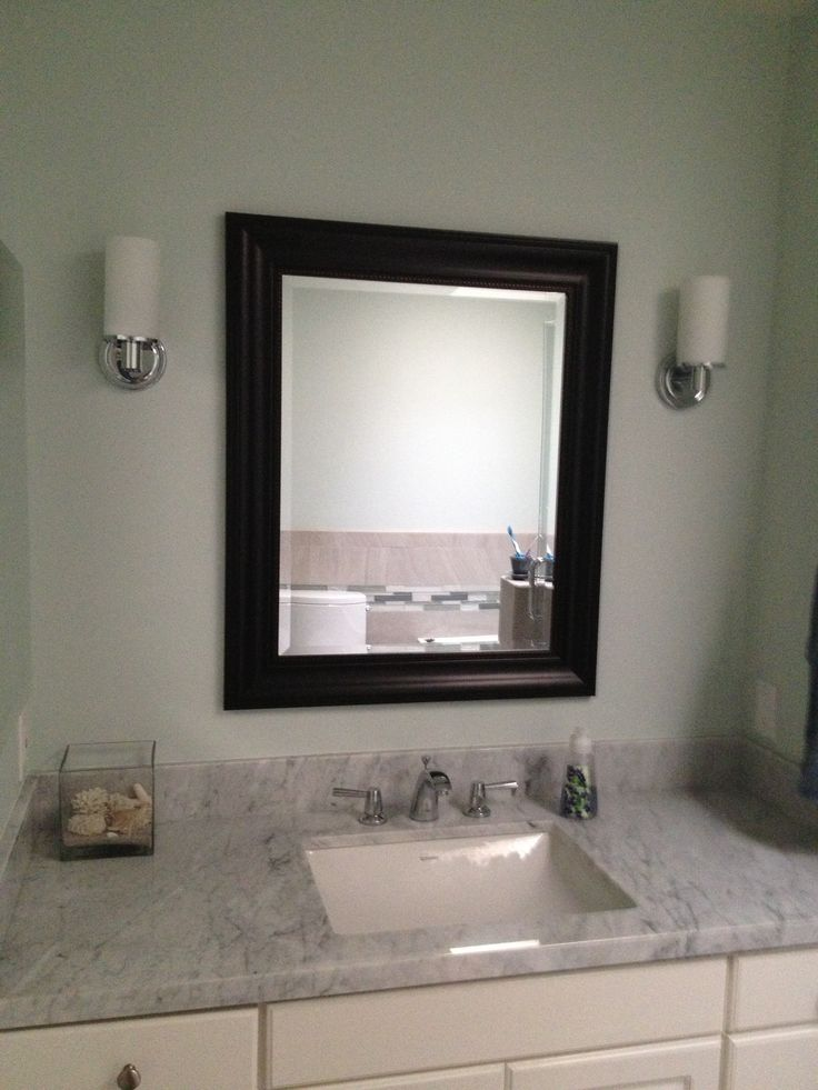 Benjamin Moore Green Tint Paint Color Bathroom Remodel
