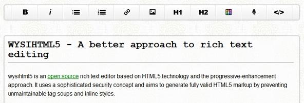 HTML5 Rich text editor