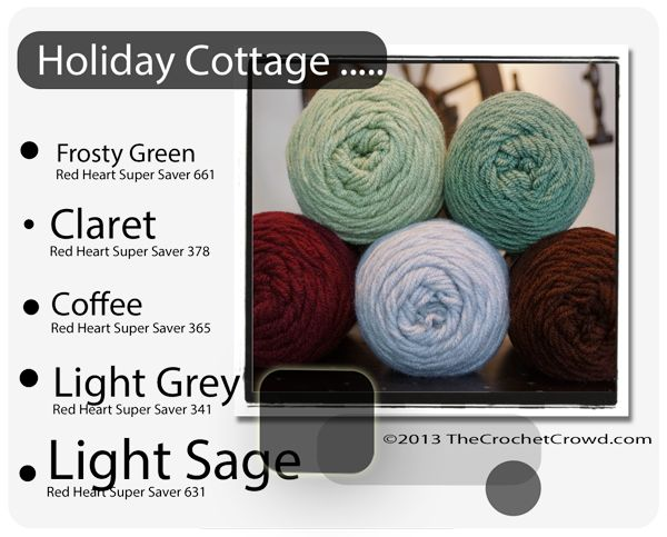 Red Heart Super Saver Color Mix: Holiday Cottage