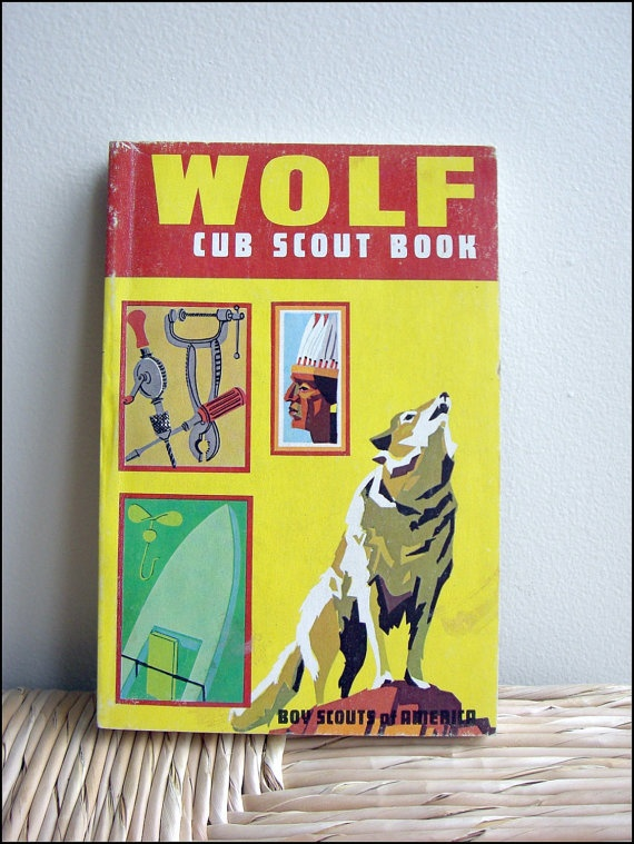 Wolf Cub Scout Boy Scout Handbook from 1970s.  My brother had this.