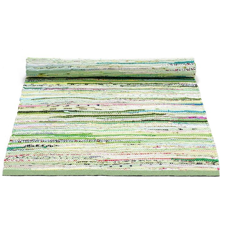 Cotton Matta 65x135, Green mix, Rug Solid