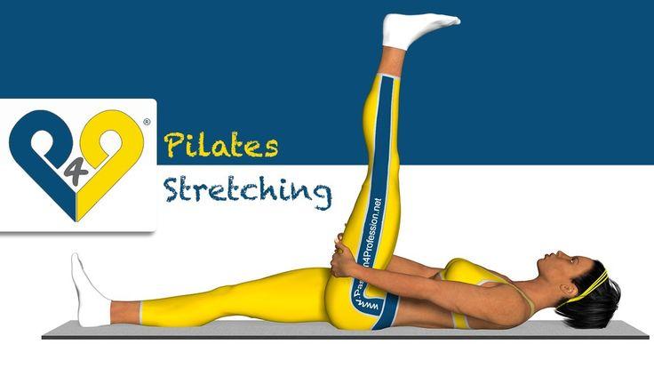 Pilates exercício - Alongamento dos musculos posteriores da coxa (deitado)