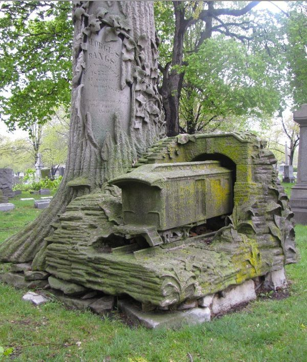 """George S. Bangs is credited with starting""""The Fast Mail"""", his grave is located in Rosehill Cemetery on Chicago's northside. So not only is this a fabulous grave, but he was also building off the work of Mr Benjamin Rush who invented Rush Delivery"""