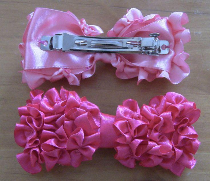 Laço  flocado de fitas  Passo a Passo - lace satin ribbons