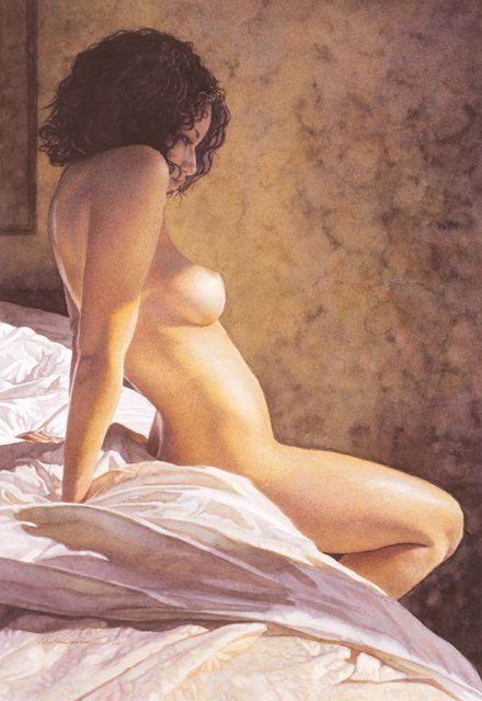 Steve Hanks - Into the Morning (1949-2015) - great American figurative watercolor artist.