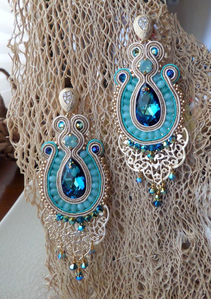 Serena Di Mercione Creation earrings, soutache
