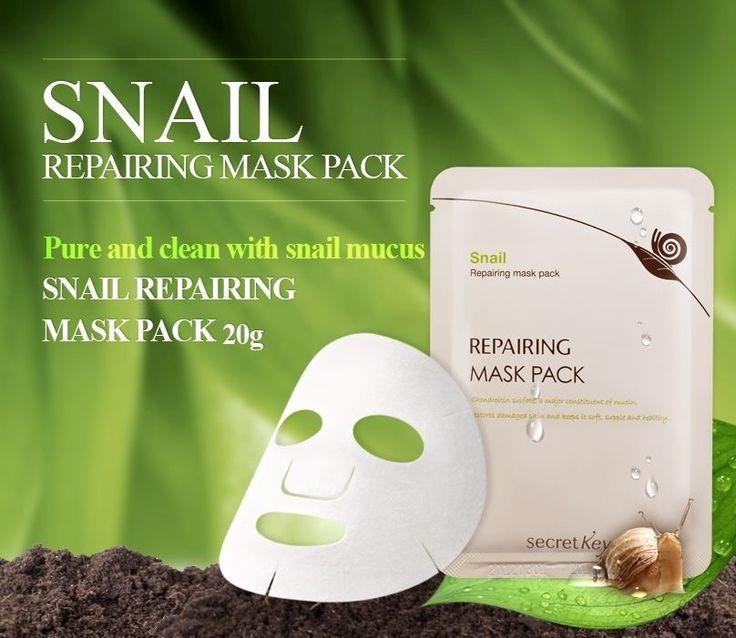 [Secretkey HQ]Snail Repairing Mask Pack 1P/SK2 Mediheal april skin amorepacific  #Secretkey