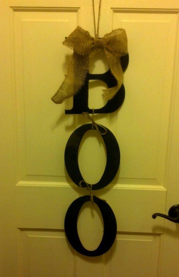 Hanging Halloween 'Boo' Door Hanger-Halloween Wreath-Door Decor
