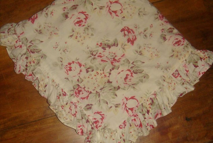 Shabby Chic Home Rachel Ashwell Floral Ruffled Euro Pillow Sham Brown Label EUC #ShabbyChic # ...