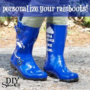 Decorate Your Rain Boots! - DIY Show Off ™ - DIY Decorating and Home Improvement Blog