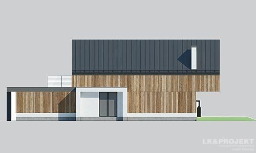 Projekty domów LK Projekt LK&1398 elewacja 2