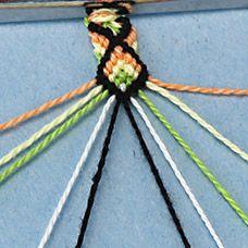 thread bracelet diamond pattern