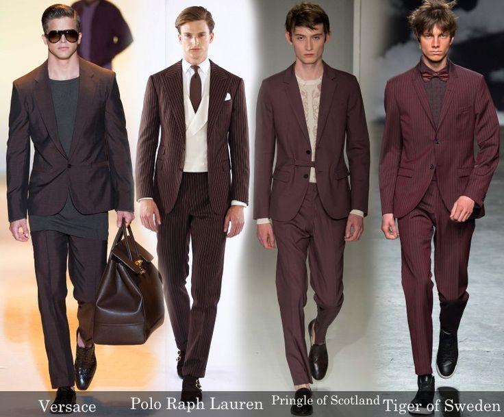 Бордовые и коричневые мужские костюмы на выпускной 2016