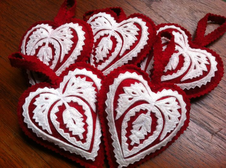 PIROSKA's Hungarian hand cut Heart Felt decorations. Gorgeous on your Christmas tree or for your Valentine www.piroska.com.au