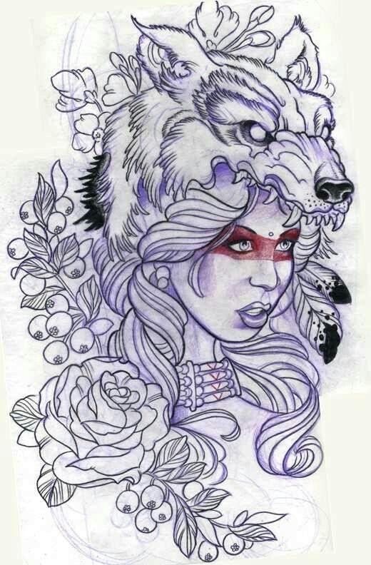 Girl wolf