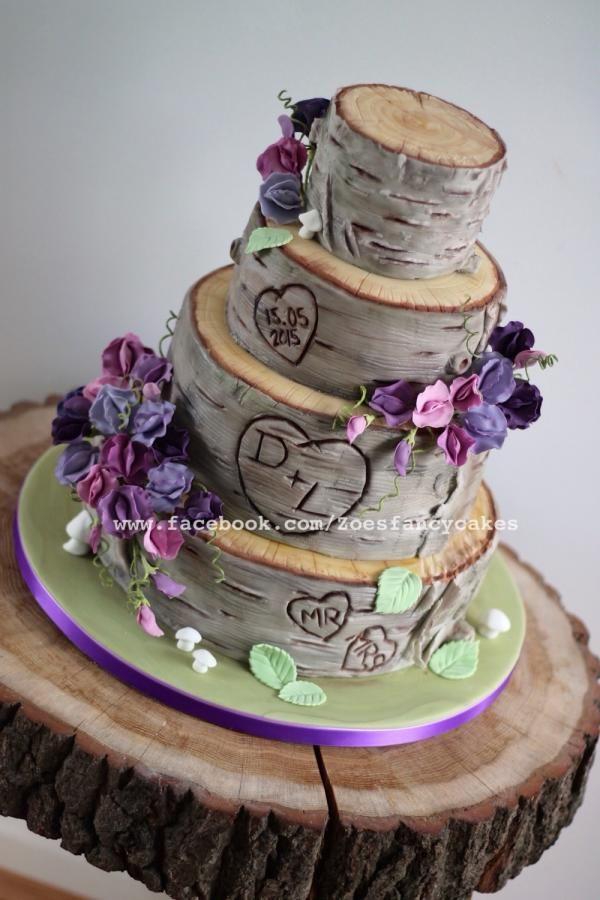 Sweet Pea wedding cake - Cake by Zoe's Fancy Cakes