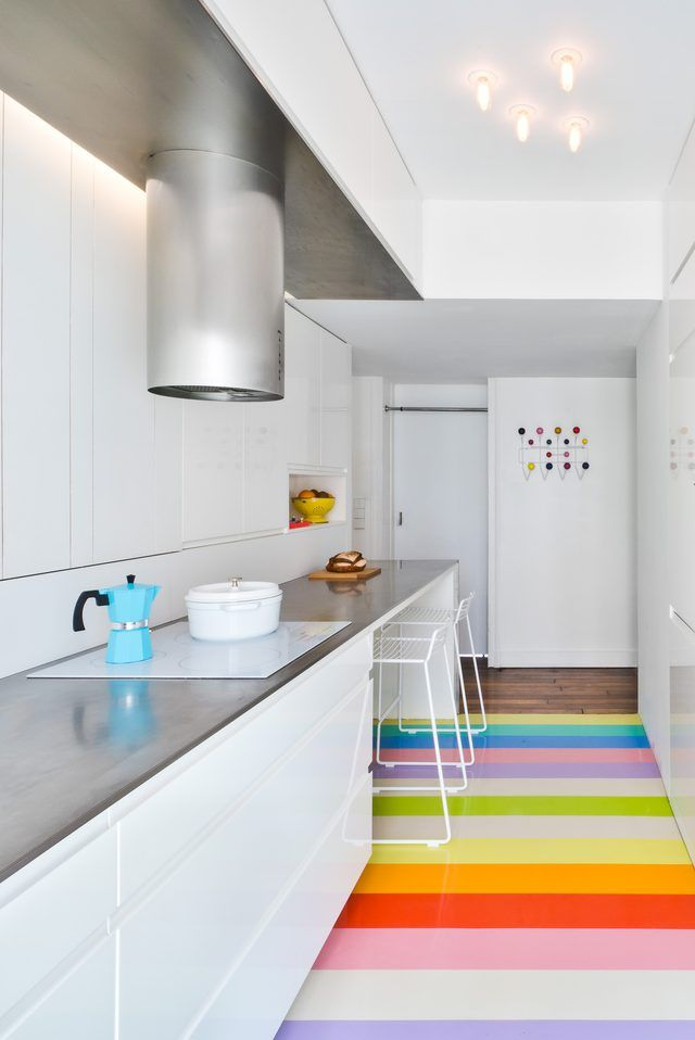 rainbow floors in a montmartre apartment are tr s awesome hunker rh pinterest com