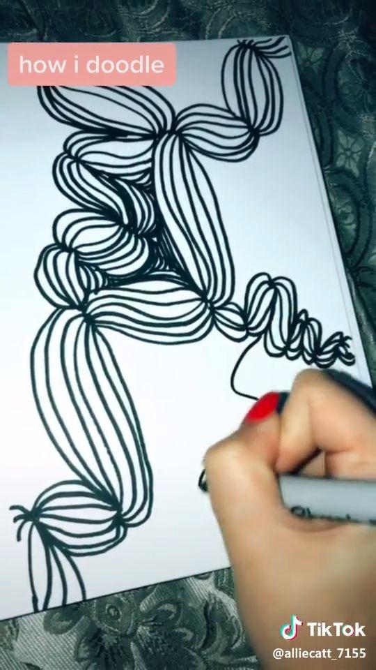 "doodles 'n such! — ""Tik-tok, tik-tok, round and round, its ...   Doodle Art Tiktok Doodles"
