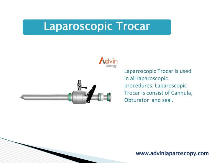Laparoscopic Trocar Laparoscopic Trocar is used in all laparoscopic procedures. Laparoscopic Trocar is consist of Cannula, Obturator and seal. The trocar allows placement of other Laparoscopic Instruments like Laparoscopic Graspers, Laparoscopic Scissors , staplers during laparoscopic surgery. Laparoscopic Trocar also known as Laparoscopic  cannula.