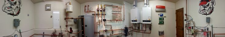 Who says the boiler room has to be boring?  Not American Plumbing, Heating and Solar in Edwards, CO.