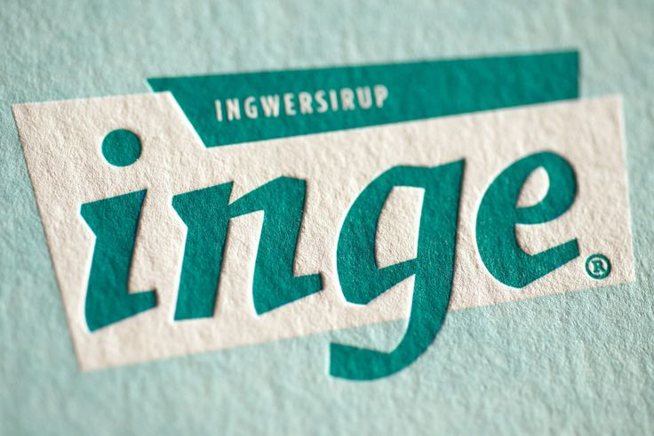 INGE INGWERSIRUP / Naming, Brand Design und Packaging / #Letterpress #Visitenkarte / by Zeichen & Wunder, München