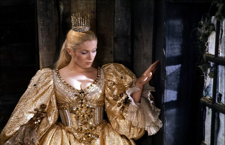 """Catherine Deneuve -  Mme Dessay, Legrand and preparation of """"Recette pour un Cake D'Amour"""" from """"Peau d'Âne"""" (1970)"""