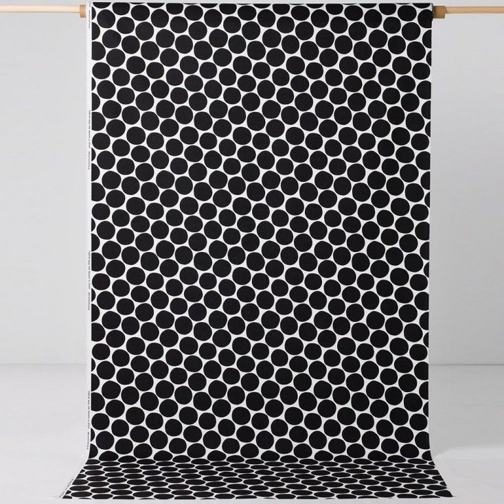 Spira Pom Pom Black Fabric