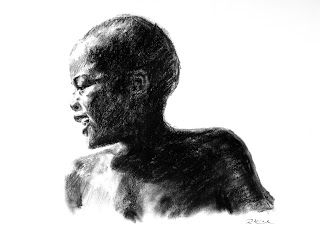 First time | 2013 Charcoal on Fabriano #RosKochArt