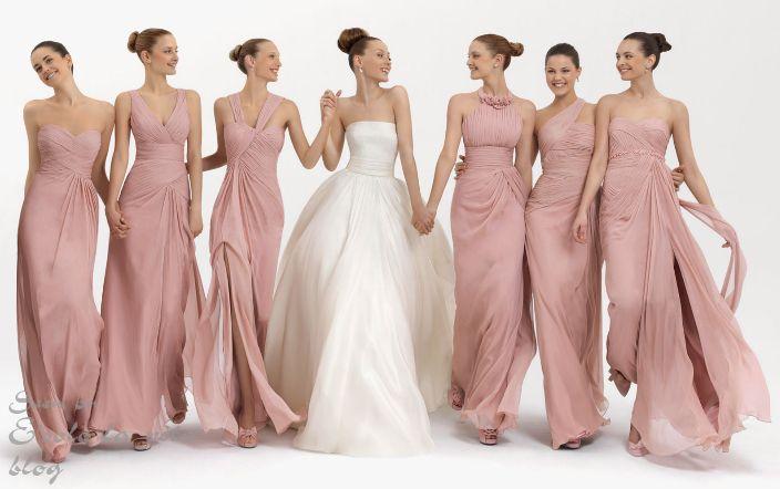 подружки невесты в розовых платьях - Поиск в Google