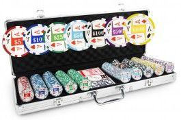 Mallette Laser Aces 500 jetons - Pokeo.fr - Mallette de poker en aluminium 500 jetons Laser Aces en PP stické 11,5g + 2 jeux de cartes en carton plastifié + 1 livret de règles du jeu Pokeo.