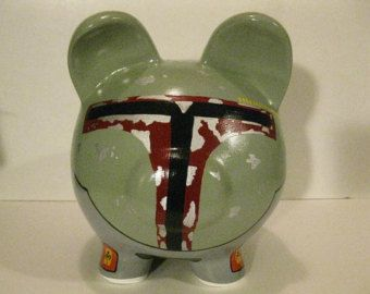 Personalized Piggy Bank Handpainted R2D2 Piggy Bank por PigPatrol
